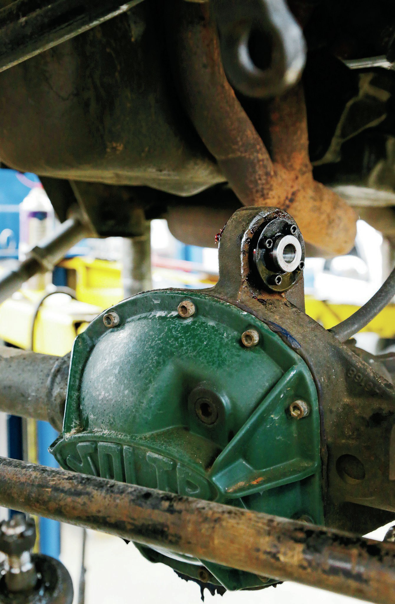 In place of the stock rubber bushing is a heavy-duty Krawler bushing that is designed to deal with the additional strain and load of the suspension. This joint is rebuildable, and if you're wheeling your Jeep frequently, it's something we would keep a spare of, just in case.