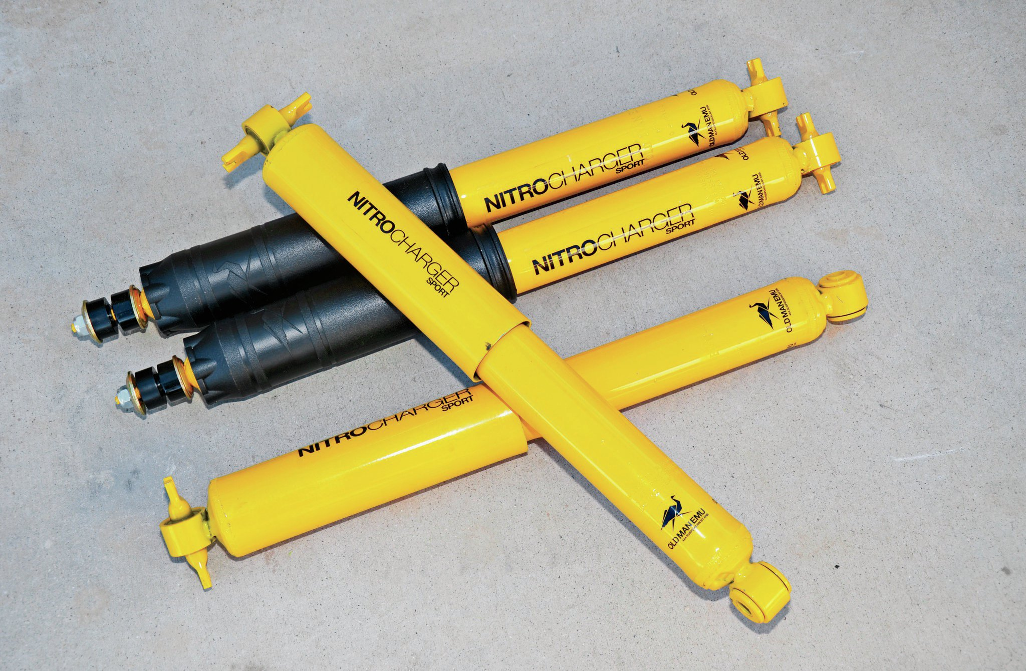 To accompany our Old Man Emu springs, we ordered up a set of OME Nitro shocks. These shocks are built to withstand the rigors, bumps, and seemingly endless washboards of the Australian Outback, so they should do fine for us. We used a set of OME shocks on a Cherokee that we thoroughly abused, and we loved the ride that those shocks provided both on-road and off. Best part is OME warrantees its suspension parts for 3 years.