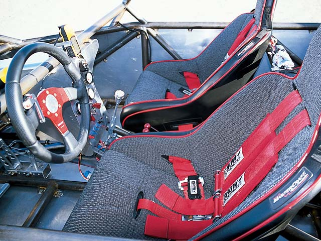 0308or 08z+2002 Olsen Truggy+Interior Shot From Driver Side Showing Front Seats