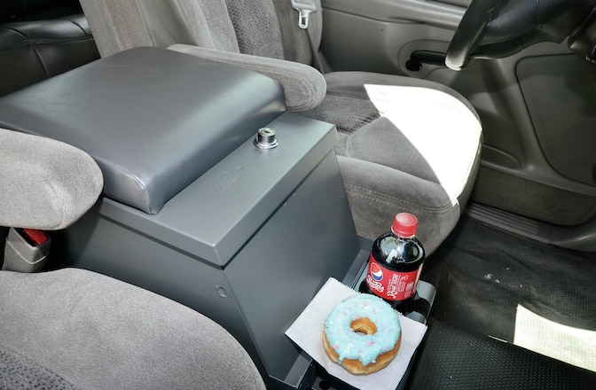 Tuffy Security Center Console Install - Lockable Storage