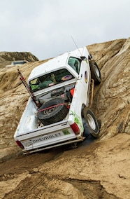 chevy s10 climbing steep hill
