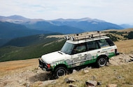 classic land rover on great divide expedititon