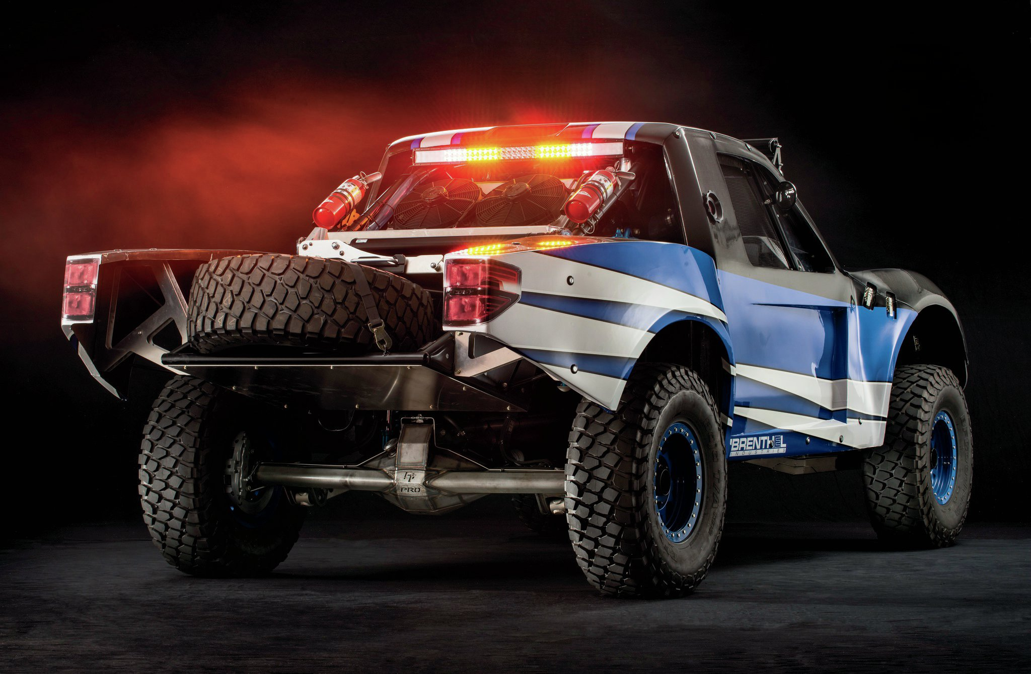 Wearing a full carbon-fiber body, this Brenthel Class 6100 Trophy Truck should maybe be called Trophy Trick.