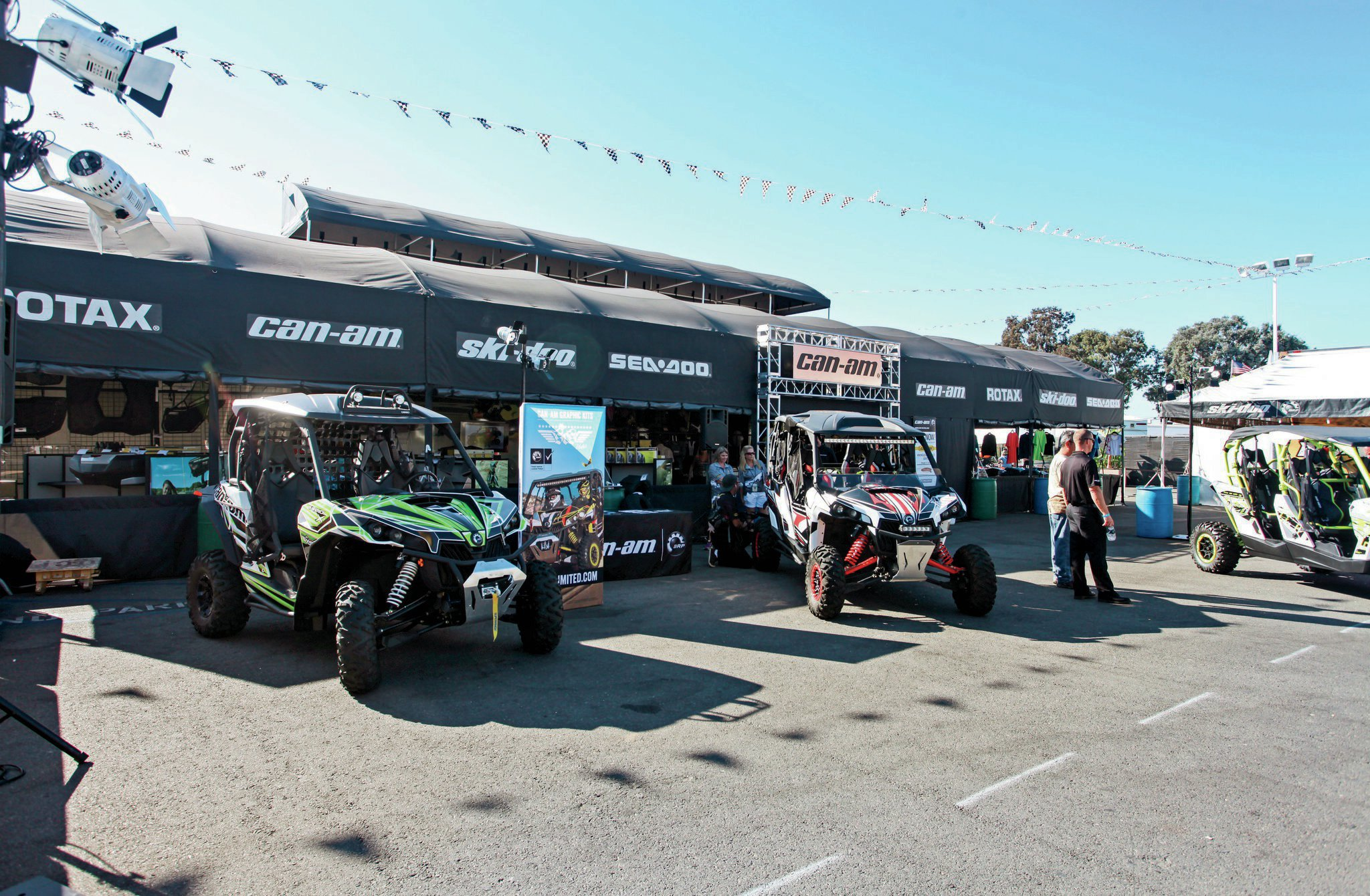 Can-Am was on hand with their latest UTVs.