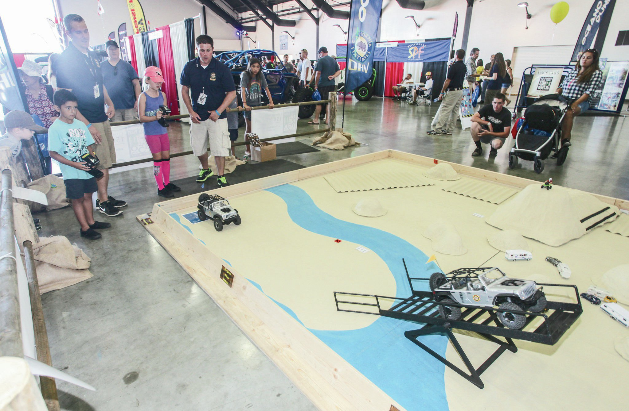 The California OHV folk had this cool radio-controlled course ready for the kids to have fun on.