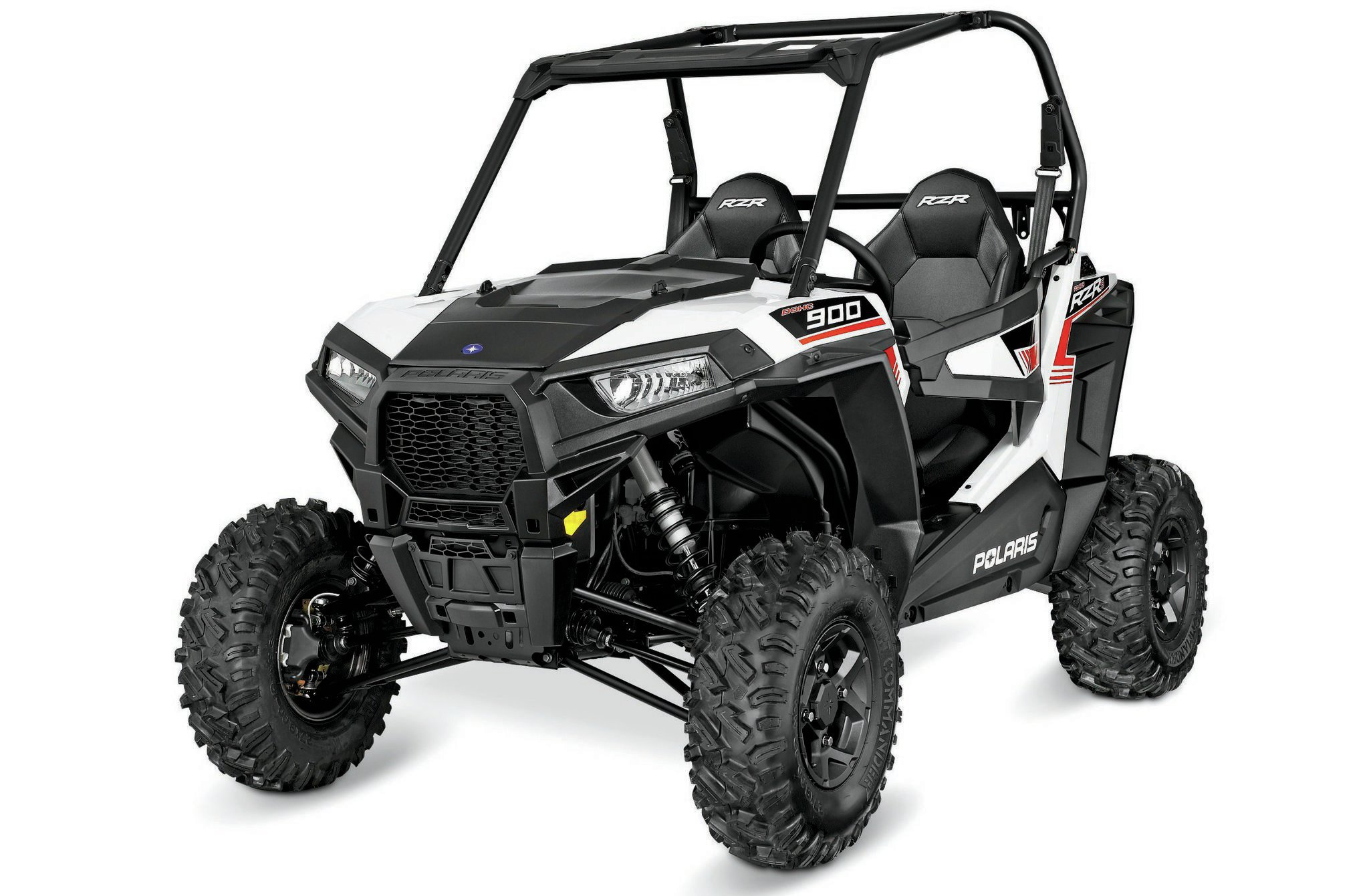 The RZR S 900 new body will excite those who liked the RZR 1000. It is the same from the B-pillar forward. With 12-volt accessory power under the hood to the blue LED interior and adjustable driver seating, it's all new to RZR S.