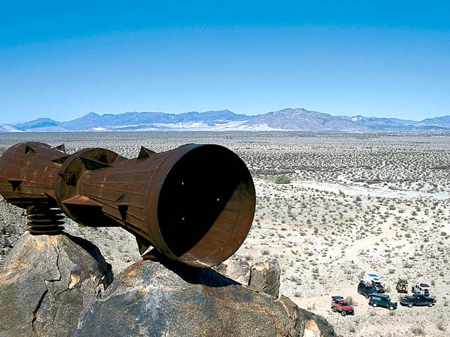 No one really knows where the desert megaphone, located in Afton Canyon, came from.