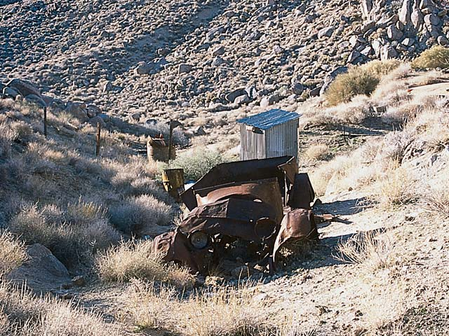 Remnants of the mining area can be found in numerous locations throughout the park.