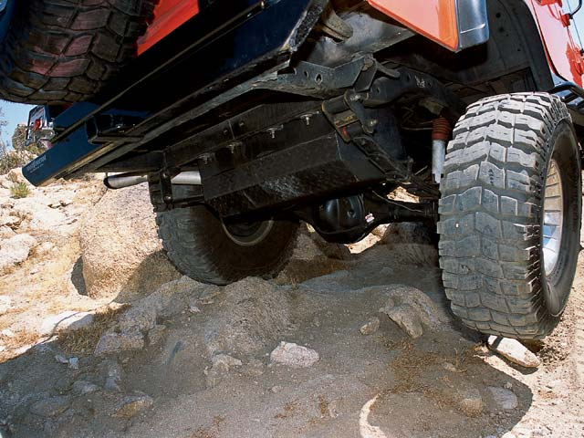 04014wd 06z+1982 Jeep CJ8 Scrambler+Under Carriage View Rear Axle