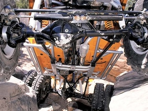 The Frame Uses A Front And Rear Three Link Suspension With A Johnny