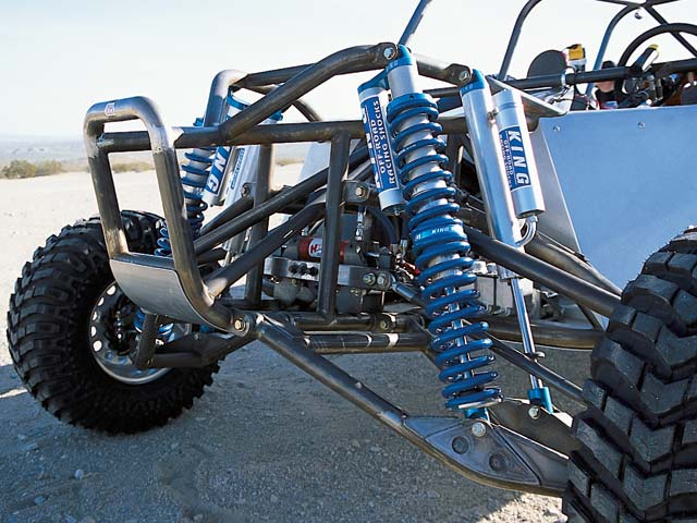 0308or 02b z+2002 Olsen Truggy+Front Driver Side Close Up Front Suspension And Shocks