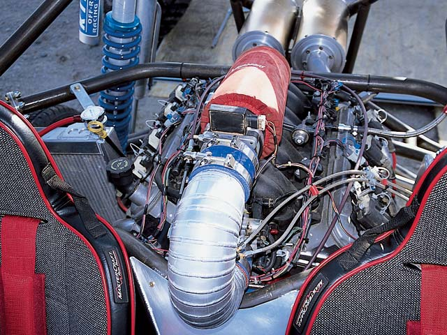 0308or 13z+2002 Olsen Truggy+Engine Shot Showing Intake
