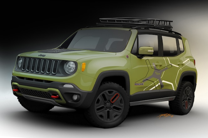 Mopar Equipped Jeep Renegade Trailhawks Take Stage in Detroit