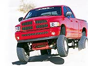 0207or 01s+2002 Dodge Ram 4x4+Front Driver Side Shot Front Tires In The Air