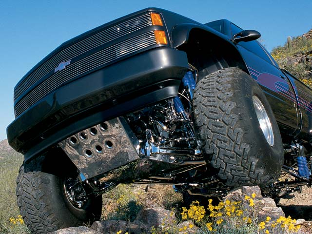 0401or 11z+1993 Chevrolet ZR1 4x4+Low Angle Front Shot Rock Climbing