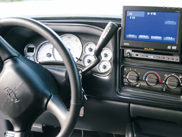 0311or 04z+2002 Chevrolet Silverado Quadrasteer+Steering Wheel Gauge Cluster And Monitor