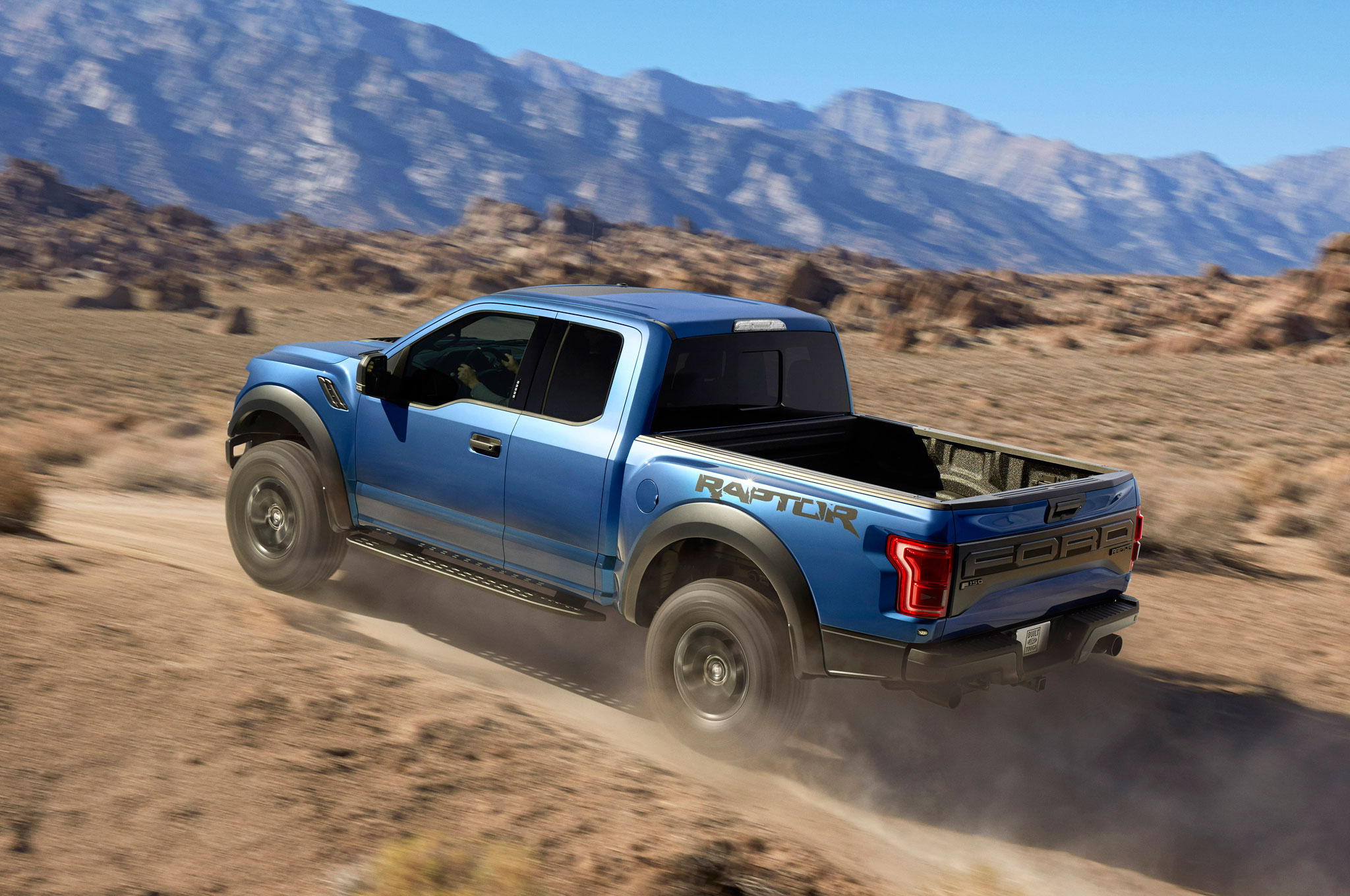 2017 ford f 150 raptor left rear driving