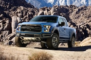 2017 ford f 150 raptor left front hero