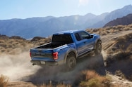 2017 ford f 150 raptor right rear uphill