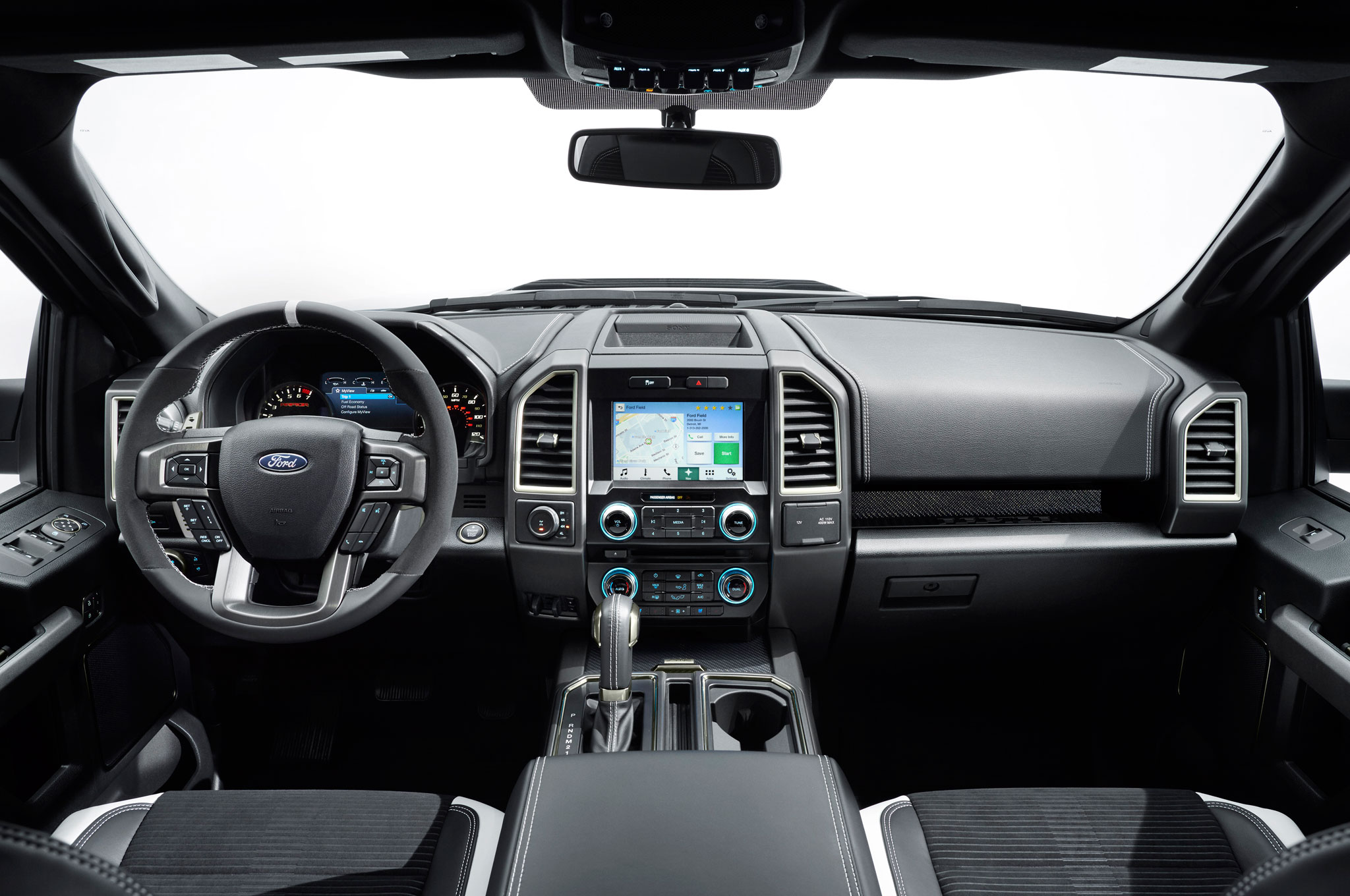 2017 ford f150 raptor dashboard