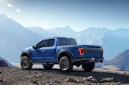 2017 ford f 150 raptor left rear angle
