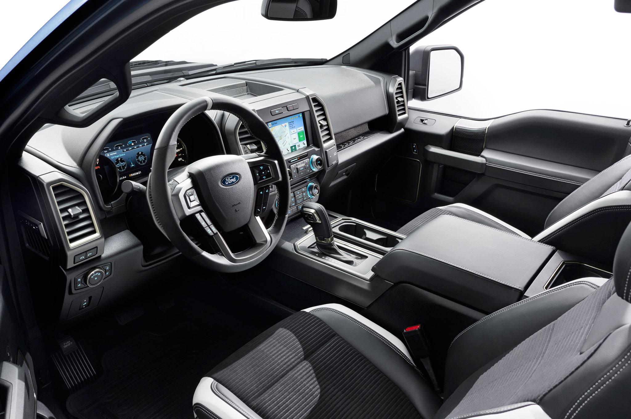 2017 ford f150 raptor dashboard left side angle
