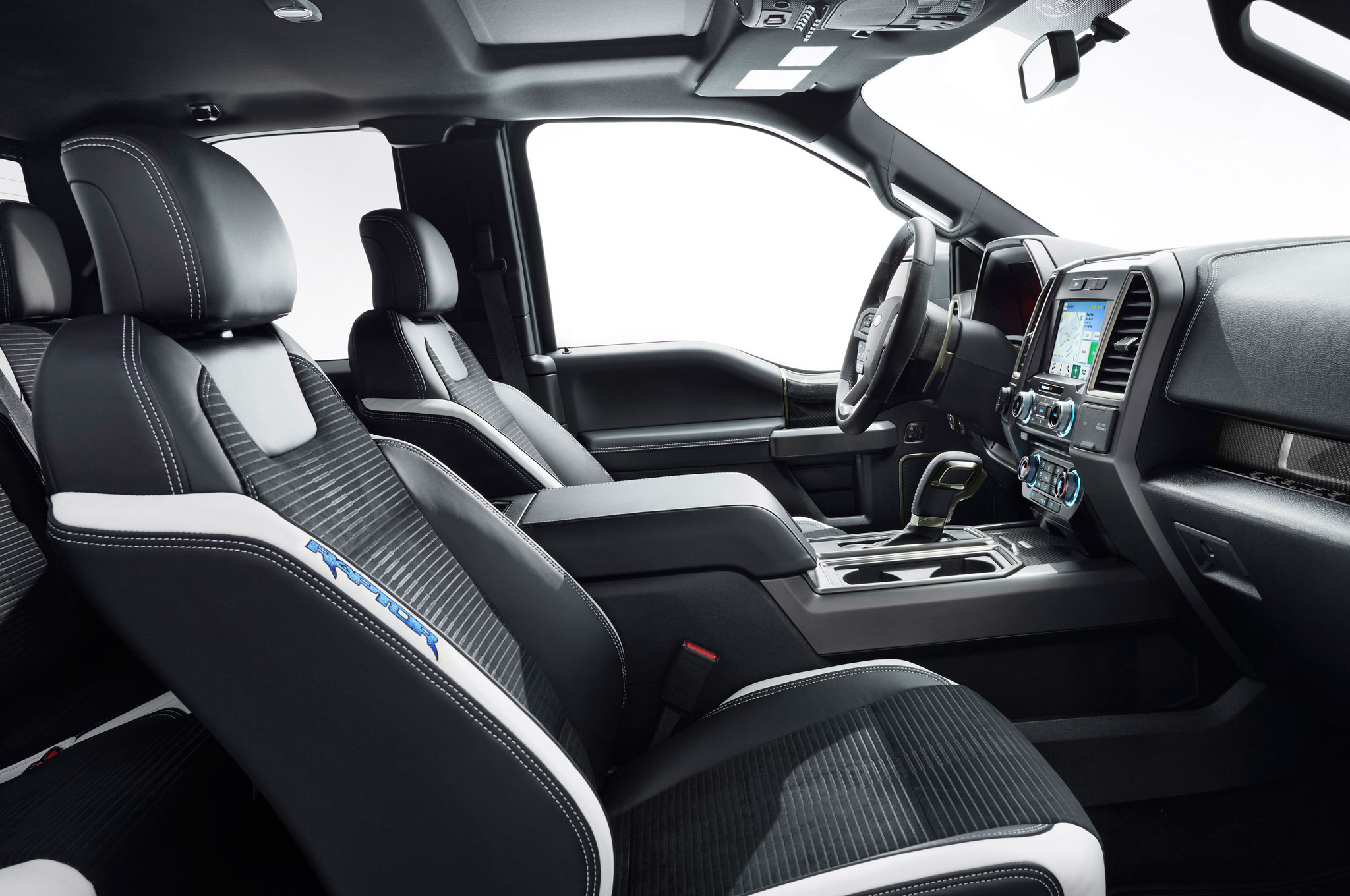 2017 ford f150 raptor interior right side view