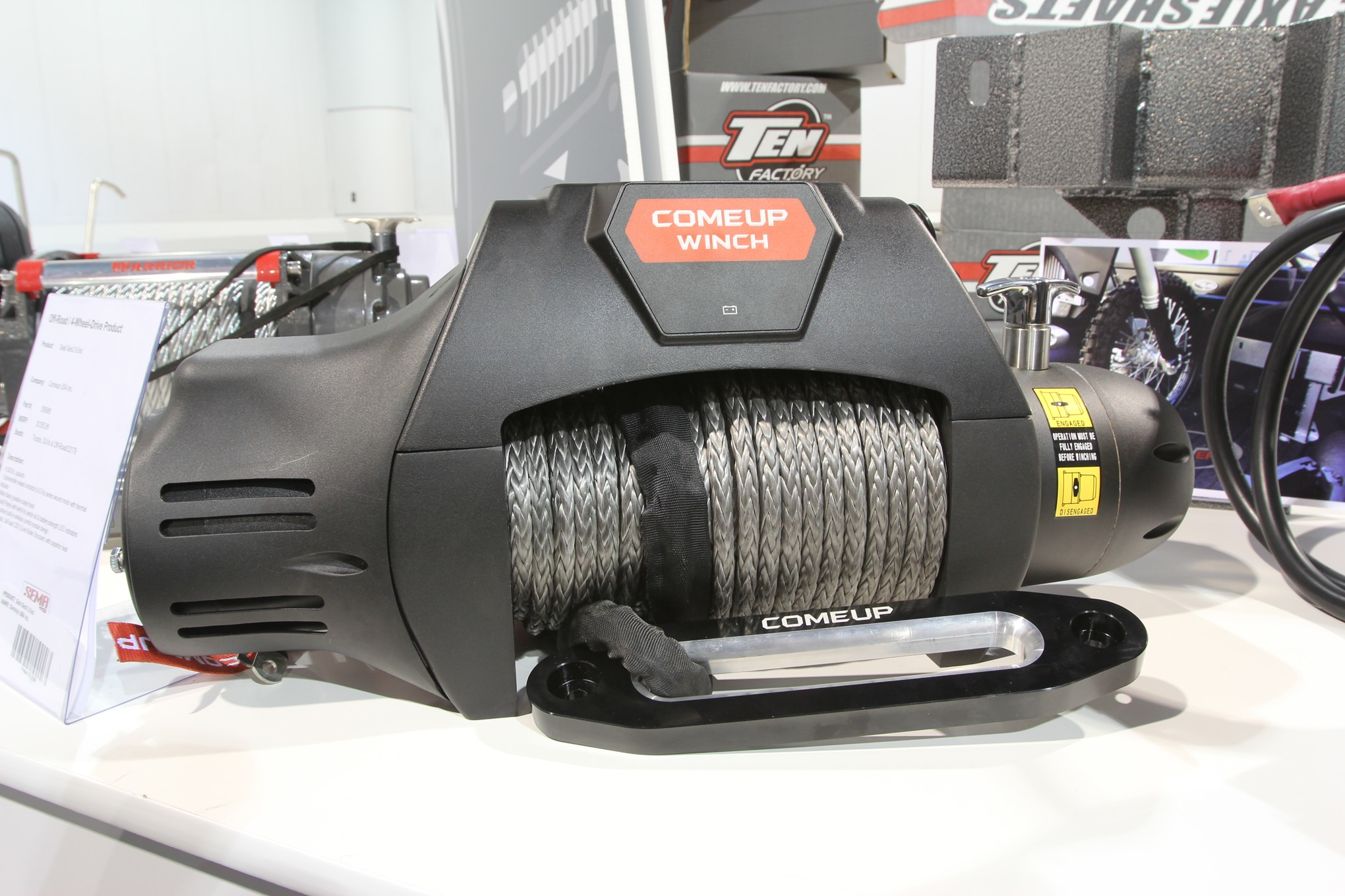 comeup usa 9500 pound electric winch