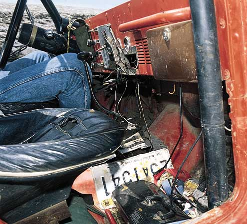 898large+1978 jeep cj5+dashboard view