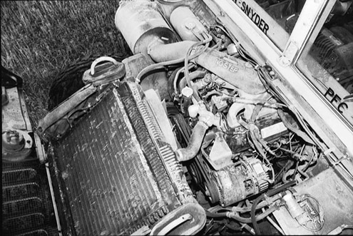 Everything under the hood is pretty much the same when comparing the civilian and military 6.2L diesel engines. However, there are a few notable exceptions. Military Hummers don&#8217t have air conditioning, run on a 24-volt electrical system, and have a giant generator hanging off the engine. For those equipped with a central tire-inflation system (optional on both the civilian and the military Hummers), the compressor and solenoids are located on the driver-side fenderwell. Civilians have the option of a GM 6.5L diesel, a 6.5L turbodiesel, or a 5.7L gas engine.