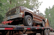 1988 chevy blazer on trailer