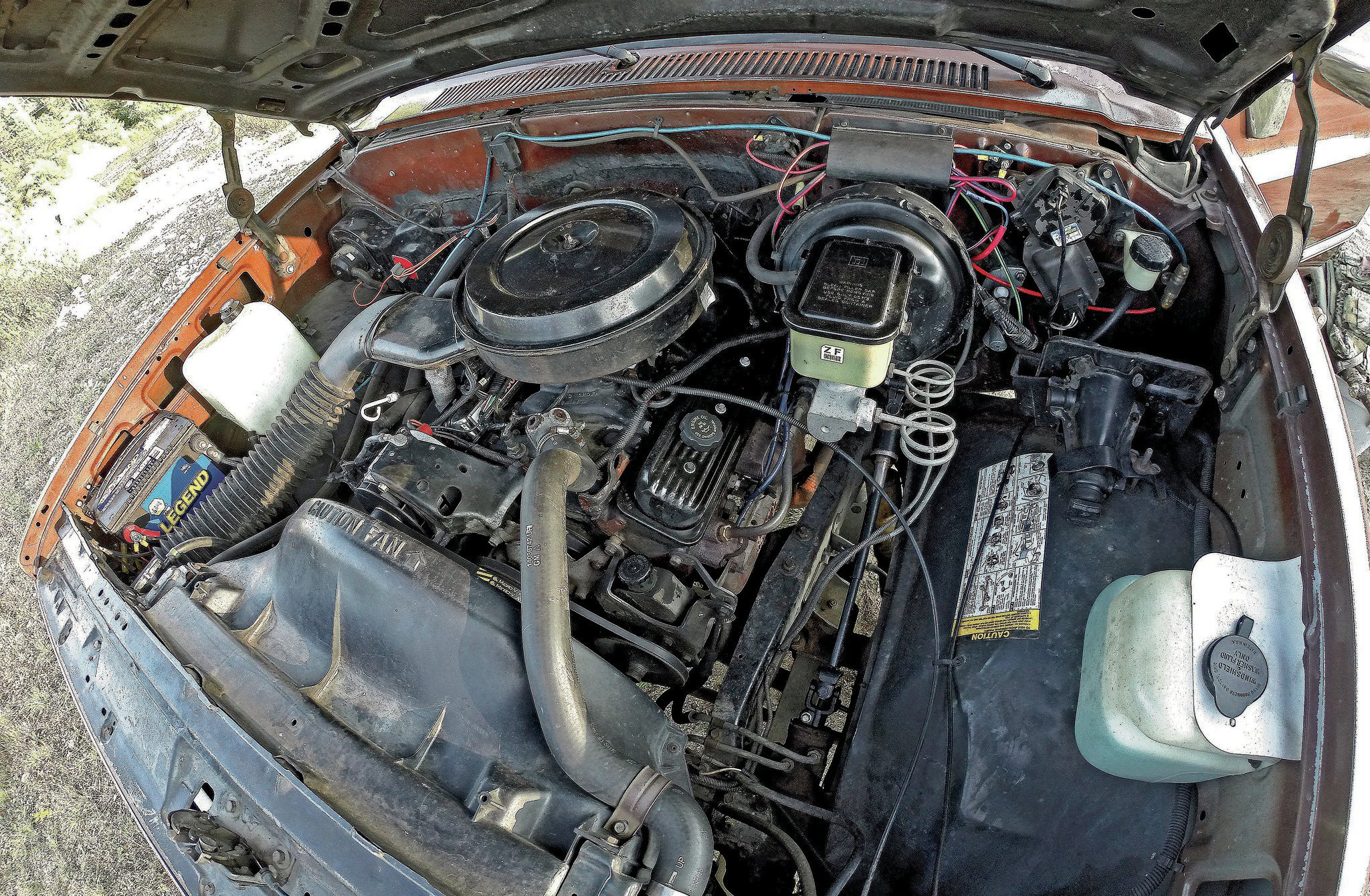"Often referred to as ""the carburetor of fuel injection,"" the factory throttle-body injection atop B.O.B.'s 350 powerplant (while not conducive to big power gains with aftermarket engine and/or injection components) is eminently simple and sledgehammer reliable. Additionally, B.O.B.'s previous owner kept up to date on all underhood maintenance, which paves a smoother road for us up ahead."