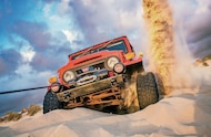 jeep winching in sand