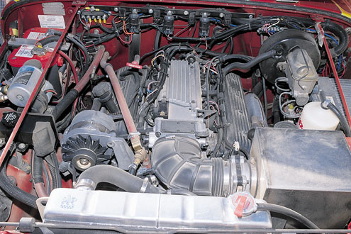 333large+1988 jeep wrangler+engine view