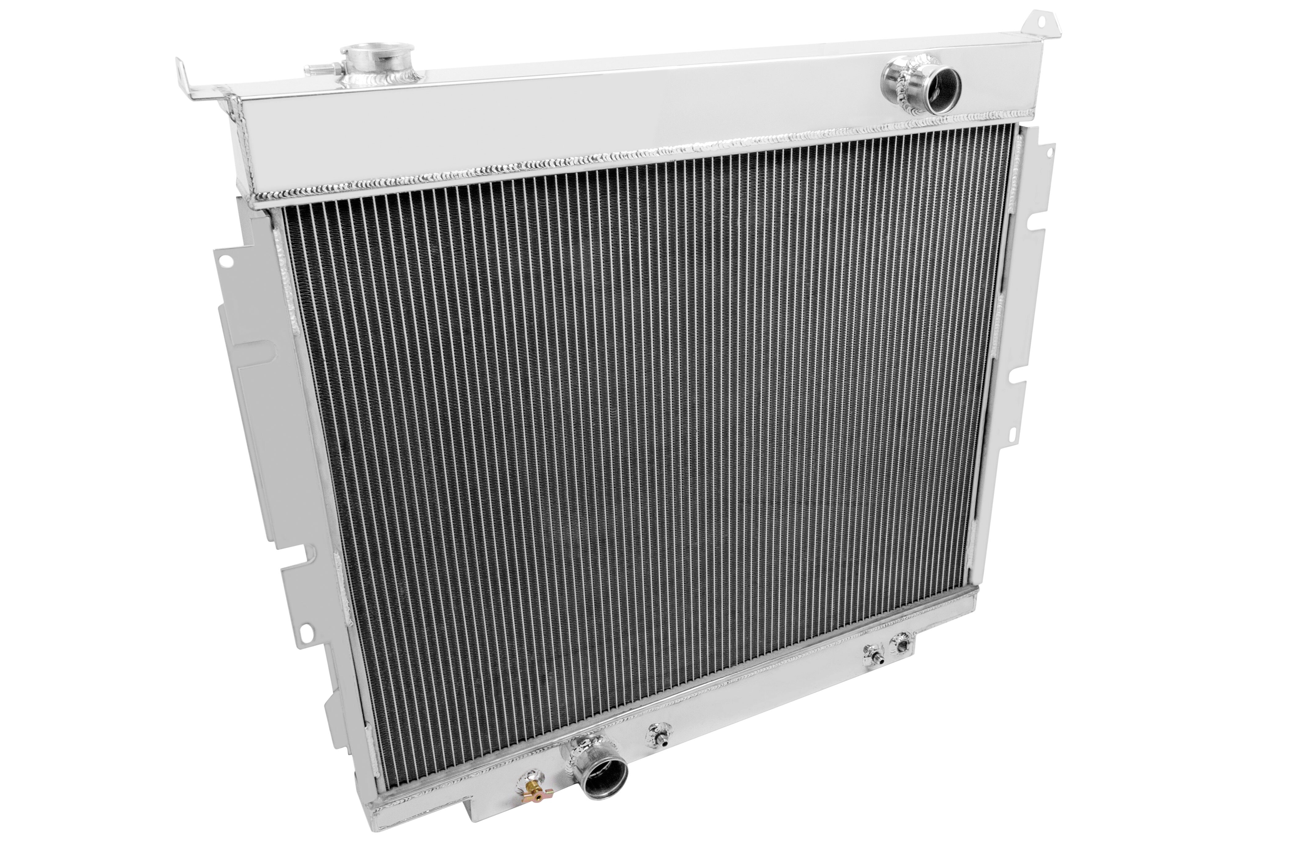 Champion's radiators are made from the highest grades of aluminum, are 100 percent TIG-welded (no epoxy) with high-density furnace-brazed cores and louvered fin technology. Available in two, three, and Monster Series four-row cores, the radiators can cool even the largest engines (over 1,000 hp). We also offer a line of low profile as well as high-performance fans and fan shrouds for extra cooling power and a truly custom look. All Champion radiators are backed by a limited lifetime warranty.