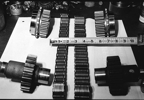 Tri-County Gear offers a chain and sprocket upgrade kit that increases the strength of the NP231 transfer case assembly by as much as 25 percent. The wider chain can handle more torque, and the matching gears are stronger as well. The 1/4-inch-width difference of the heavy-duty chain means it won&#8217t stretch as easily for prolonged life expectancy.
