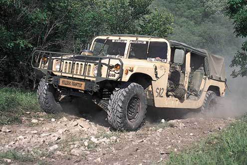 Military Vs. Civilian Hummers on