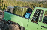 baja basket with cooler jerry cans and storage box