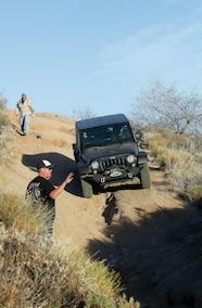 spotting jeep down trail