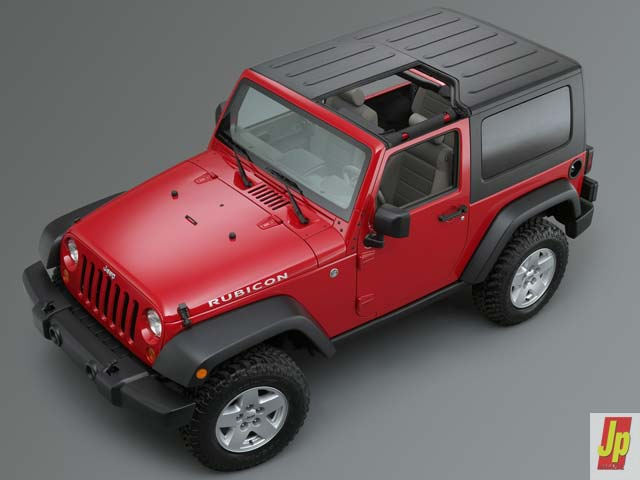 154 0601 11z+2007 jeep jk wrangler+top front side remove top view