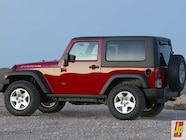 154 0601 23z+2007 jeep jk wrangler+rear side topped view