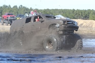 trucks gone wild south berlin mud ranch chevrolet van driving through mud