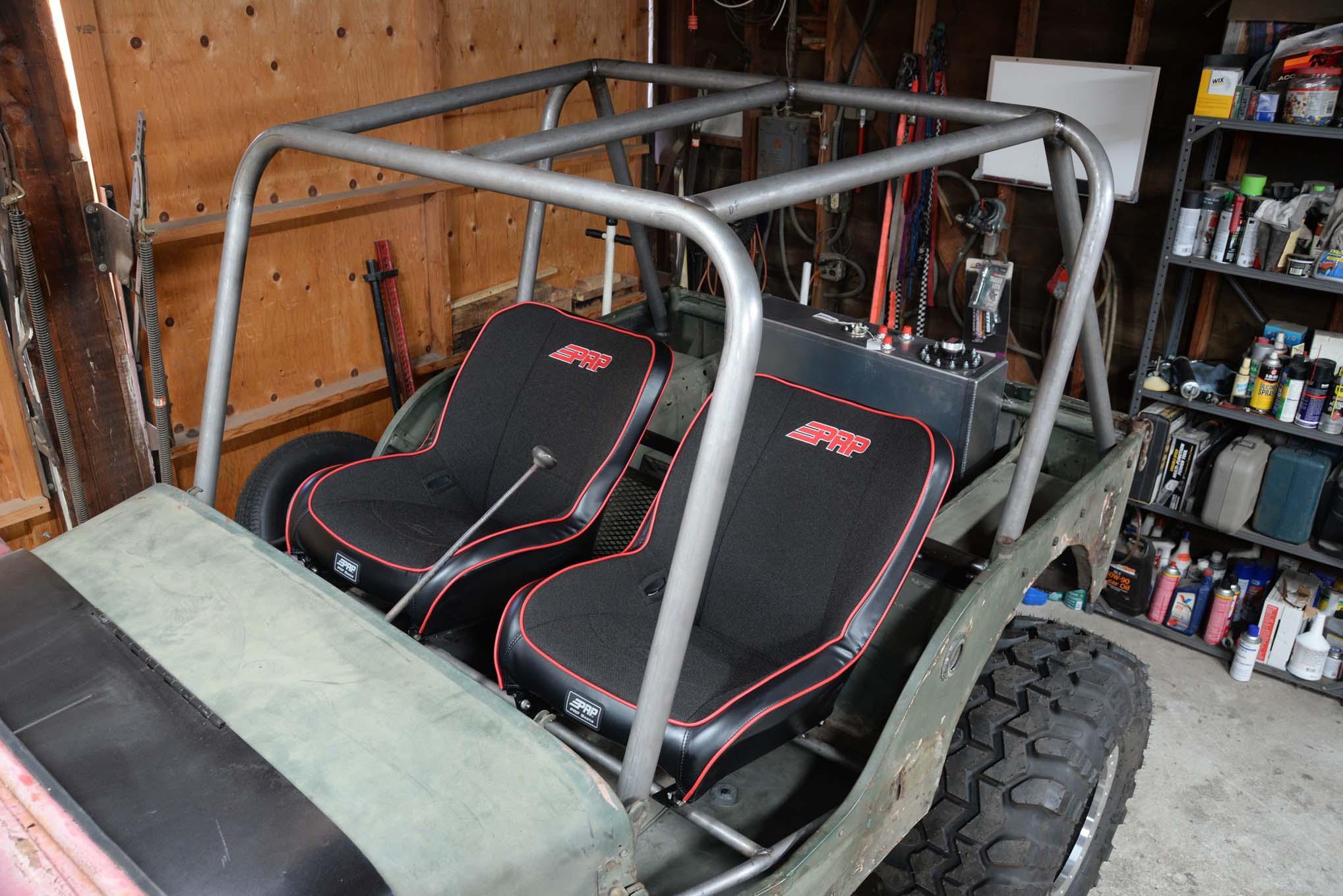 001 gpw jeep flatfender flattie rollcage dom weld welding cage fabrication prp seats cappa lpr