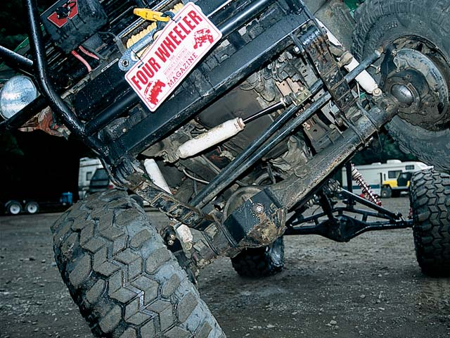The front Toyota axle features a Birfield-eliminator kit, an ARB Air Locker, a Yukon 5.29 ring-and-pinion and heavy-duty Spicer 5-760x U-joints.