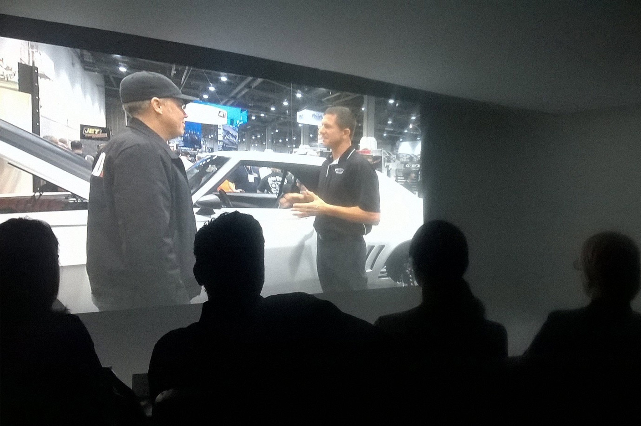 """The """"screening room"""" was one of the photo coves at SEMA's facility."""