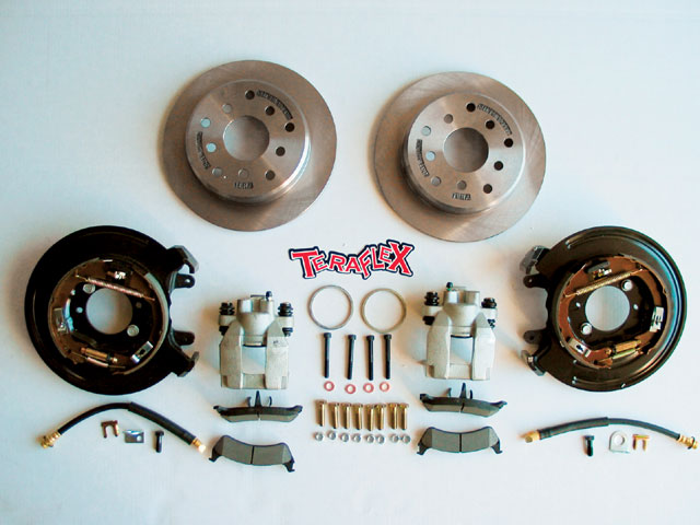 0709 4wd 01 z+teraflex jeep rear disc brakes+kit