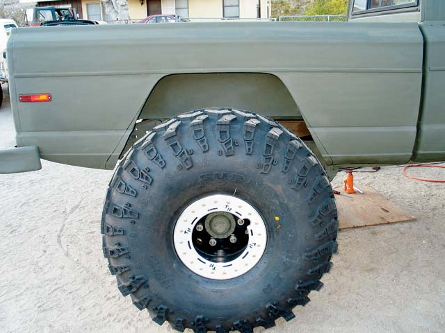 1973 Jeep FSJ Truck Rear Wheel Photo 9085536