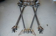 skid plate suspension structure in place