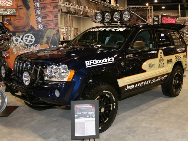 129 05sema 191z+jeep grand cherokee+front side view