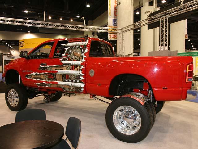 129 05sema 204z+dodge ram+side view